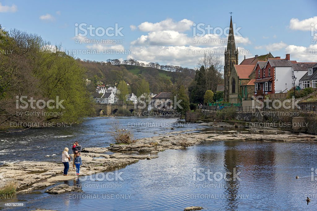 River Dee, Llangollen, North Wales royalty-free stock photo