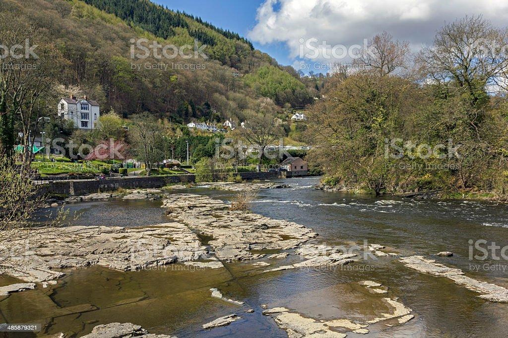 River Dee, Llangollen, North Wales royalty-free stock photo