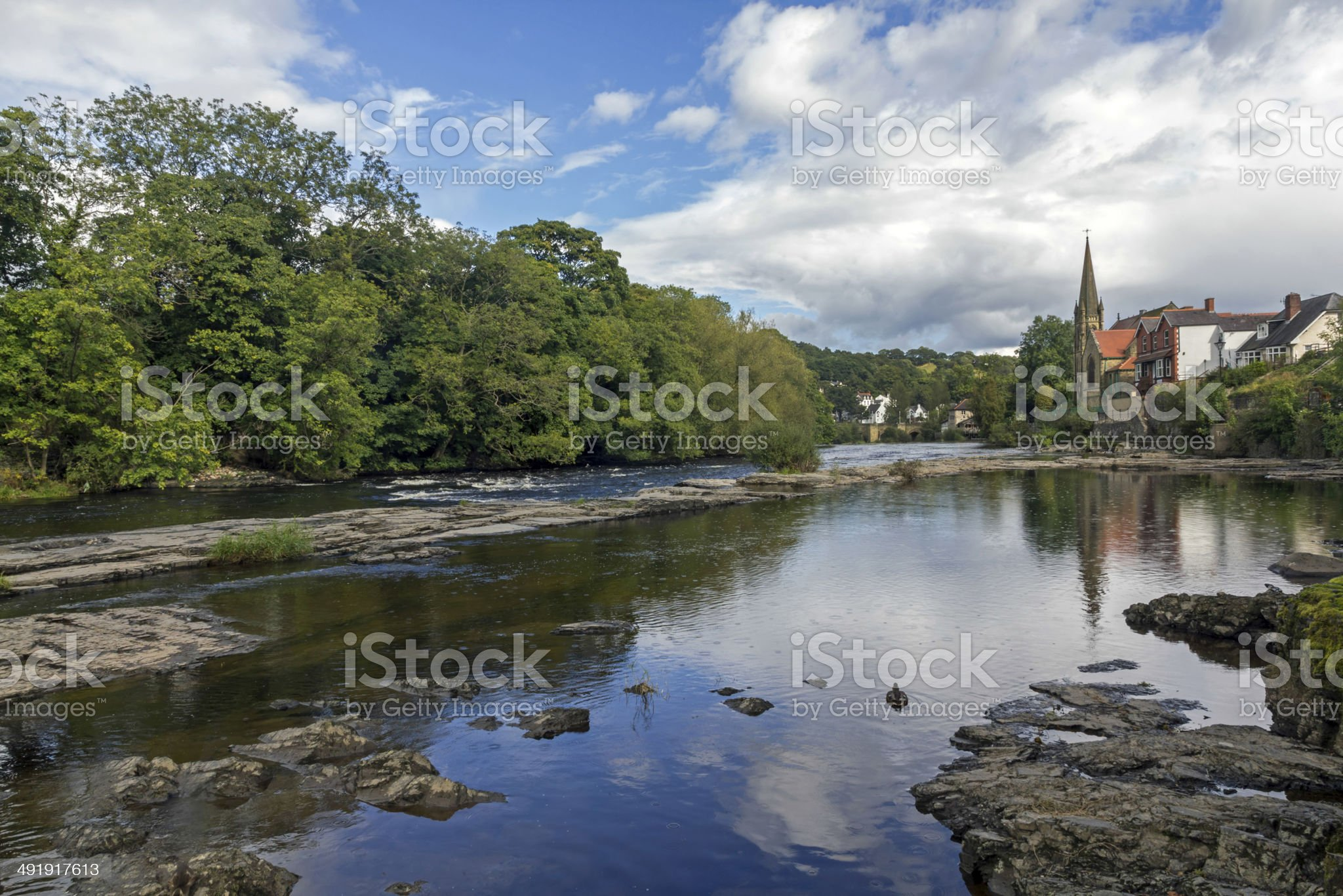 River Dee Llangollen North Wales royalty-free stock photo