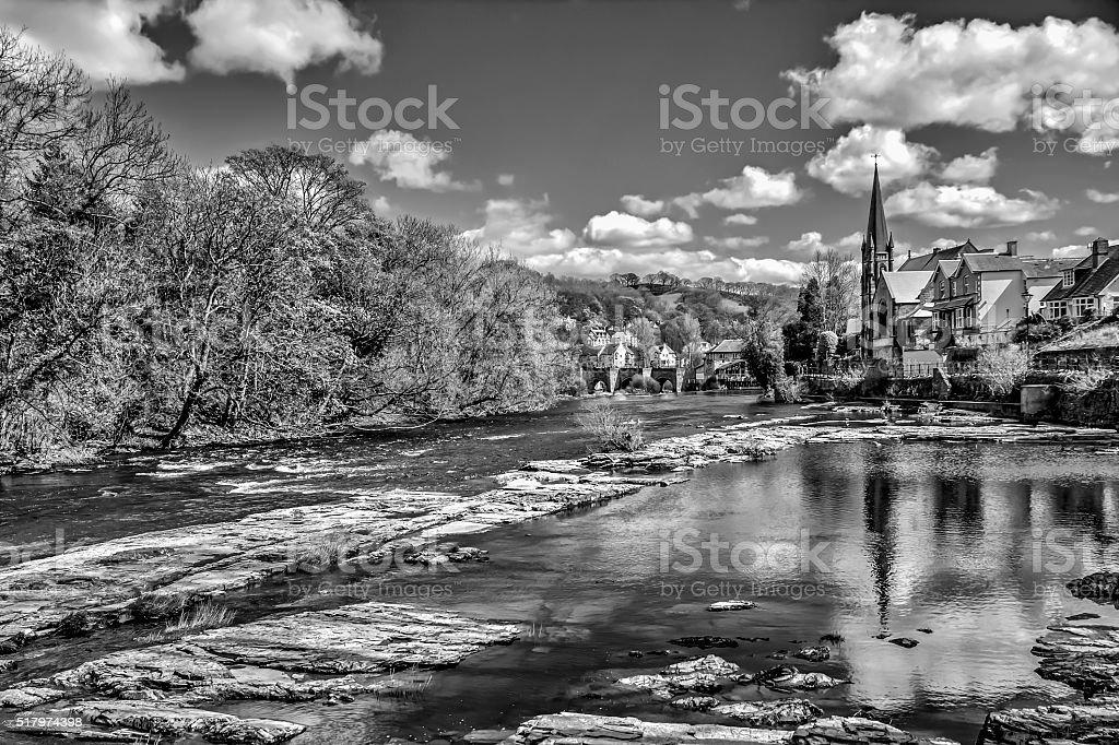 River Dee, Llangollen, North Wales stock photo
