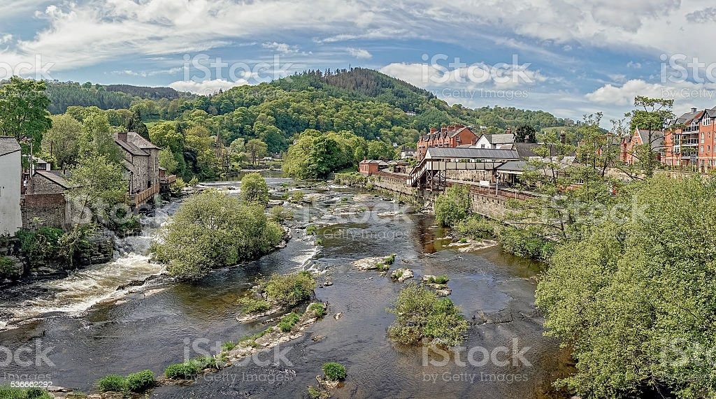 River Dee Llangollen stock photo