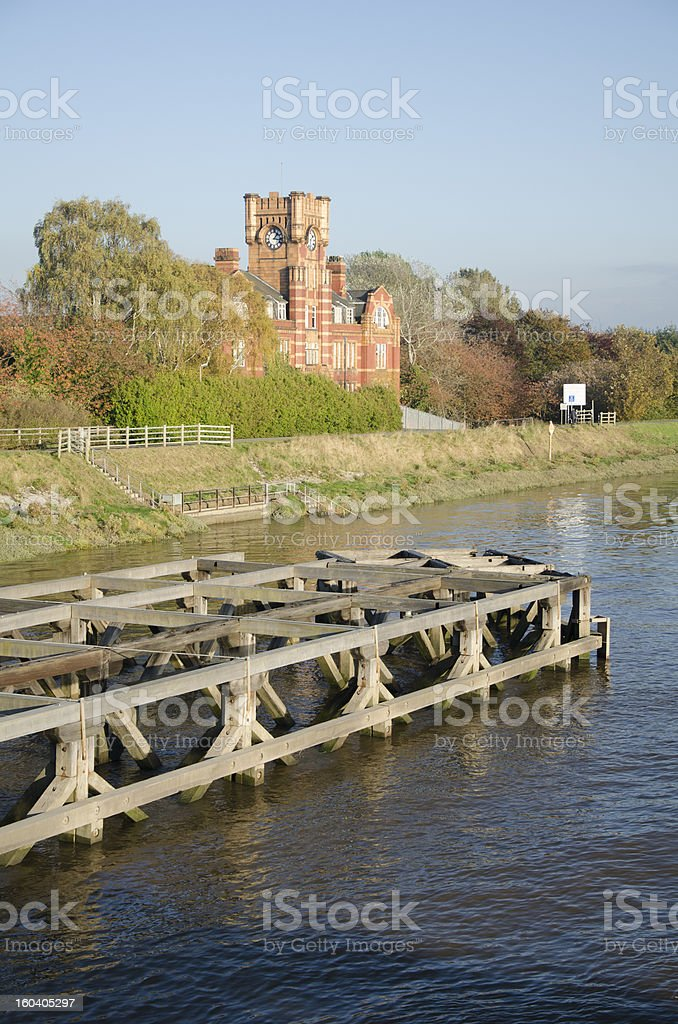 River Dee Near Queensferry in North Wales royalty-free stock photo