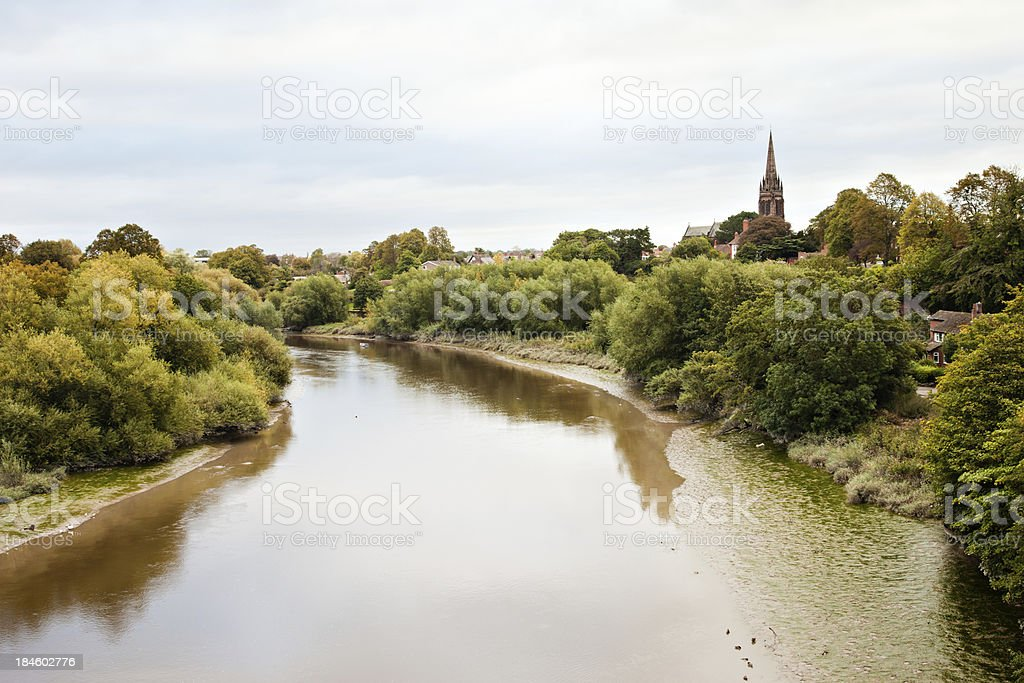 River Dee Overlooking Handbridge royalty-free stock photo