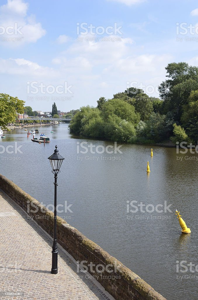 River Dee Riverside in Chester royalty-free stock photo