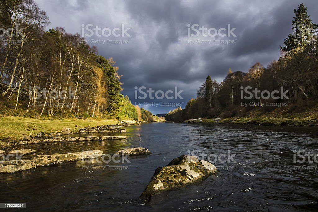 River Dee, Scotland royalty-free stock photo