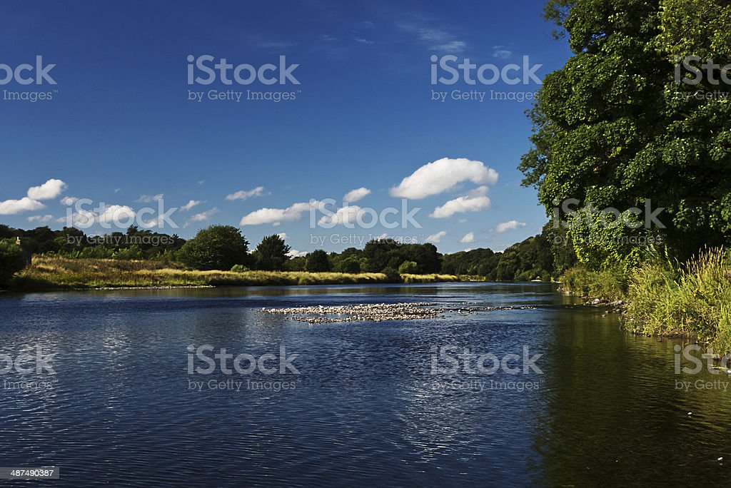 River Dee Shallows. royalty-free stock photo