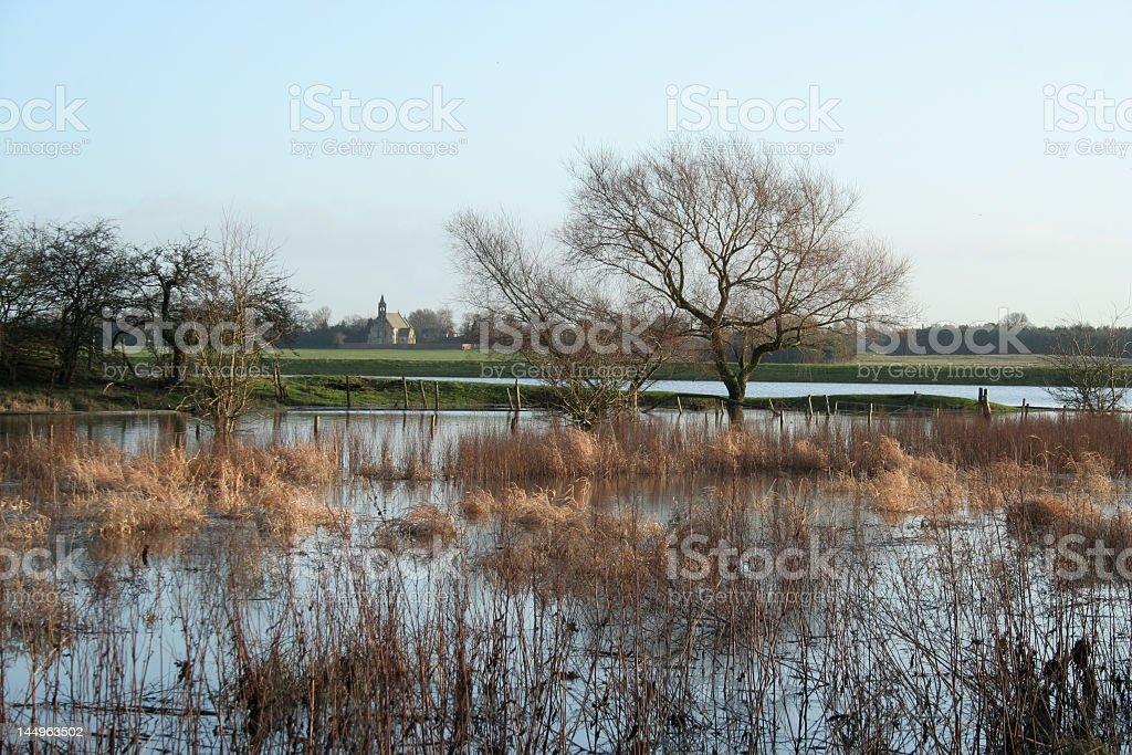 River Derwent floods stock photo