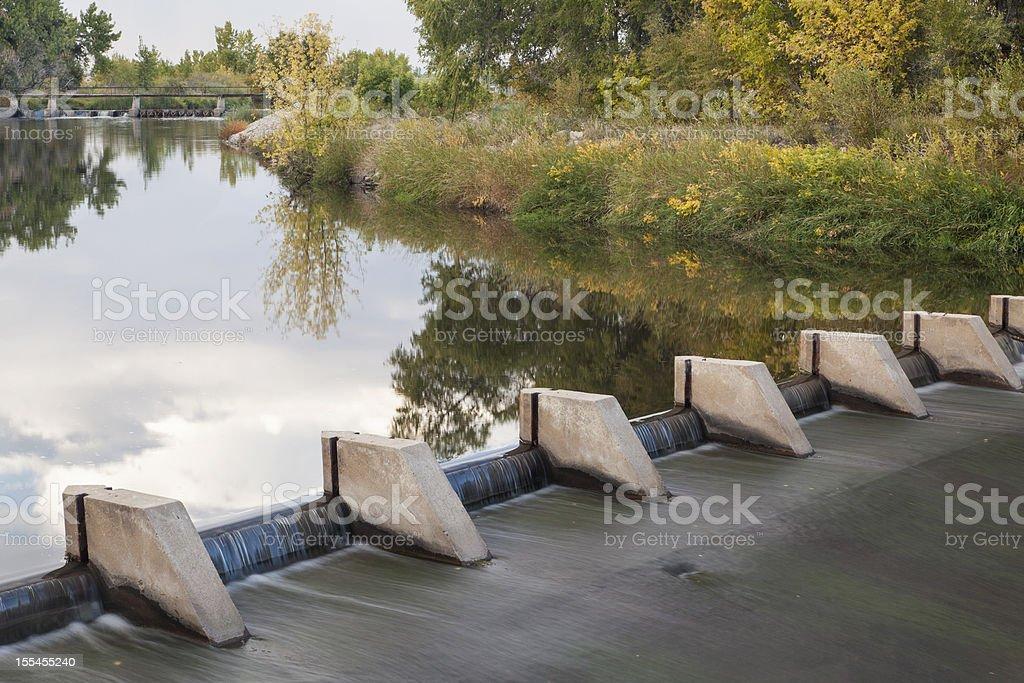 river diversion dam stock photo