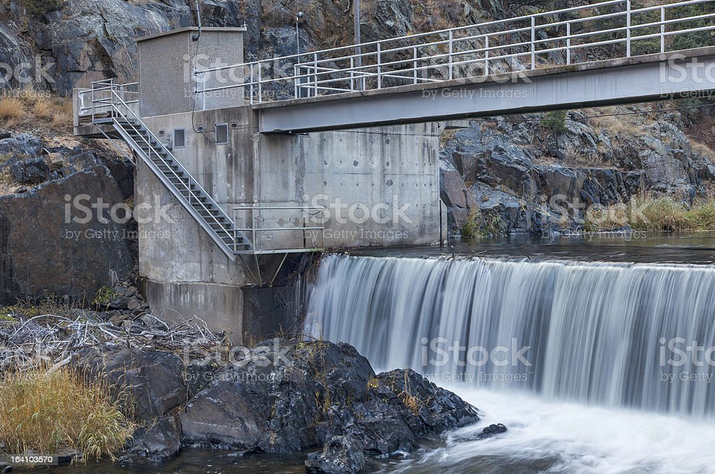 river diversion dam royalty-free stock photo