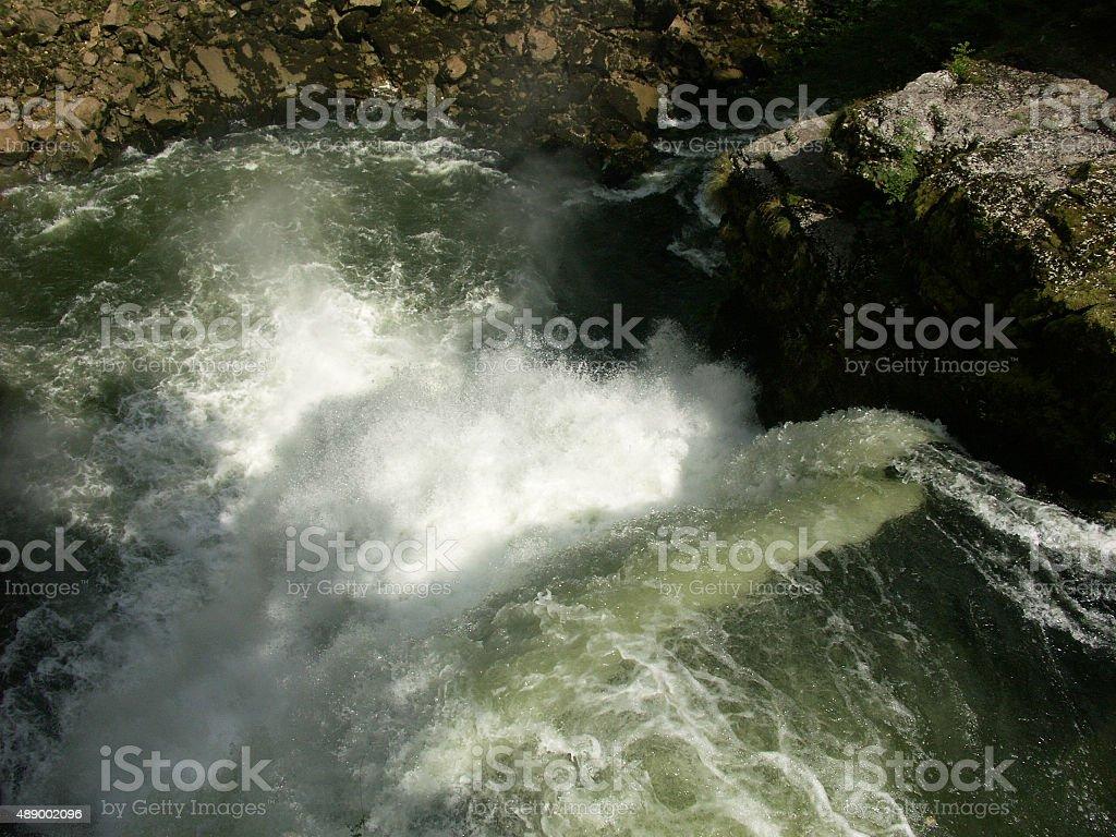 River Doubs waterfall stock photo