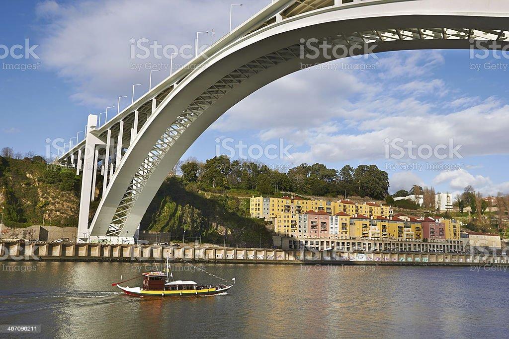 River Douru in Porto, Portugal stock photo