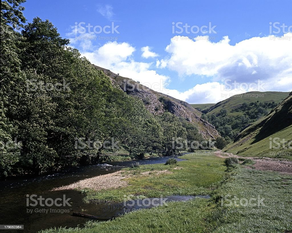 River Dove, Dovedale, England. stock photo