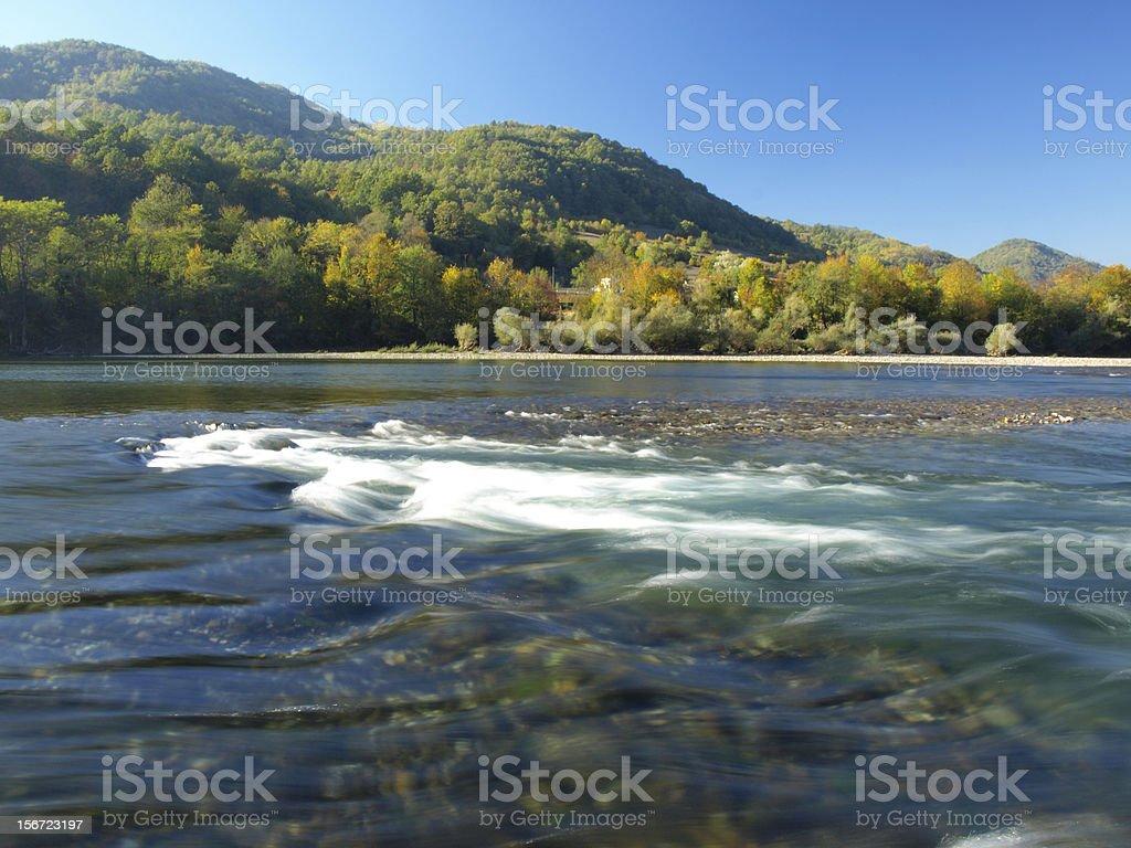 River Drina,Serbia stock photo