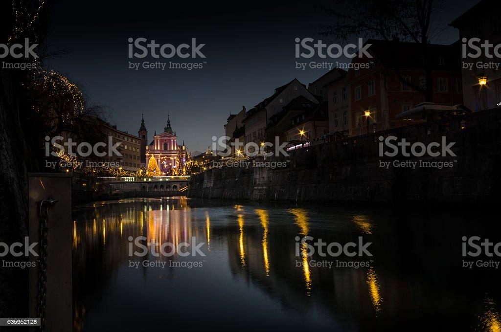 River embankment stock photo