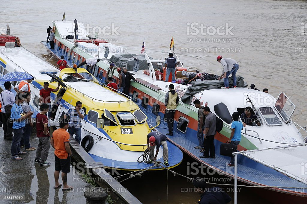 River express boat services stock photo