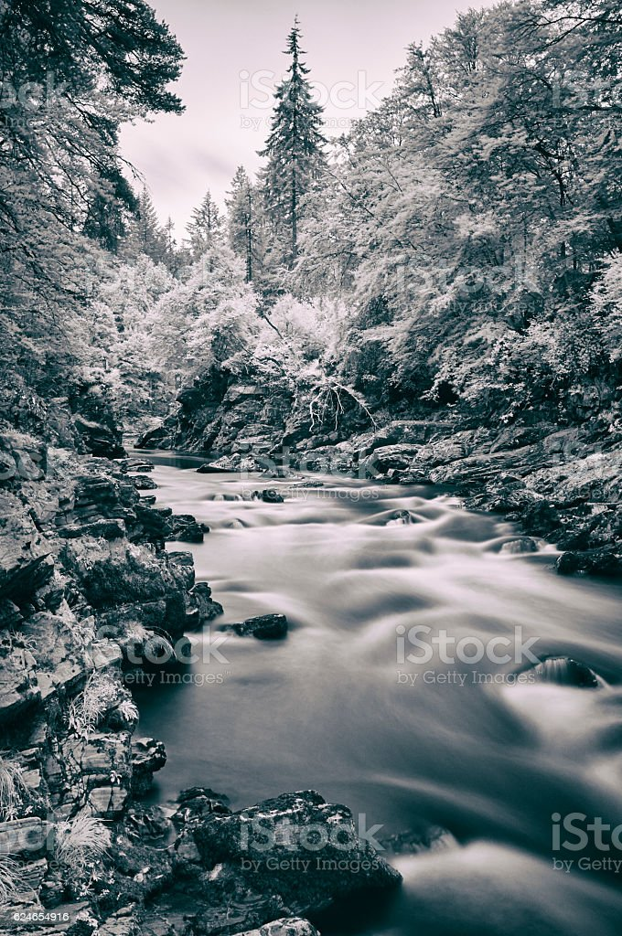 River Findhorn At Randolph's Leap stock photo