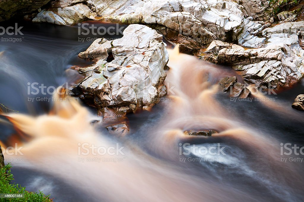 River Findhorn Flowing stock photo