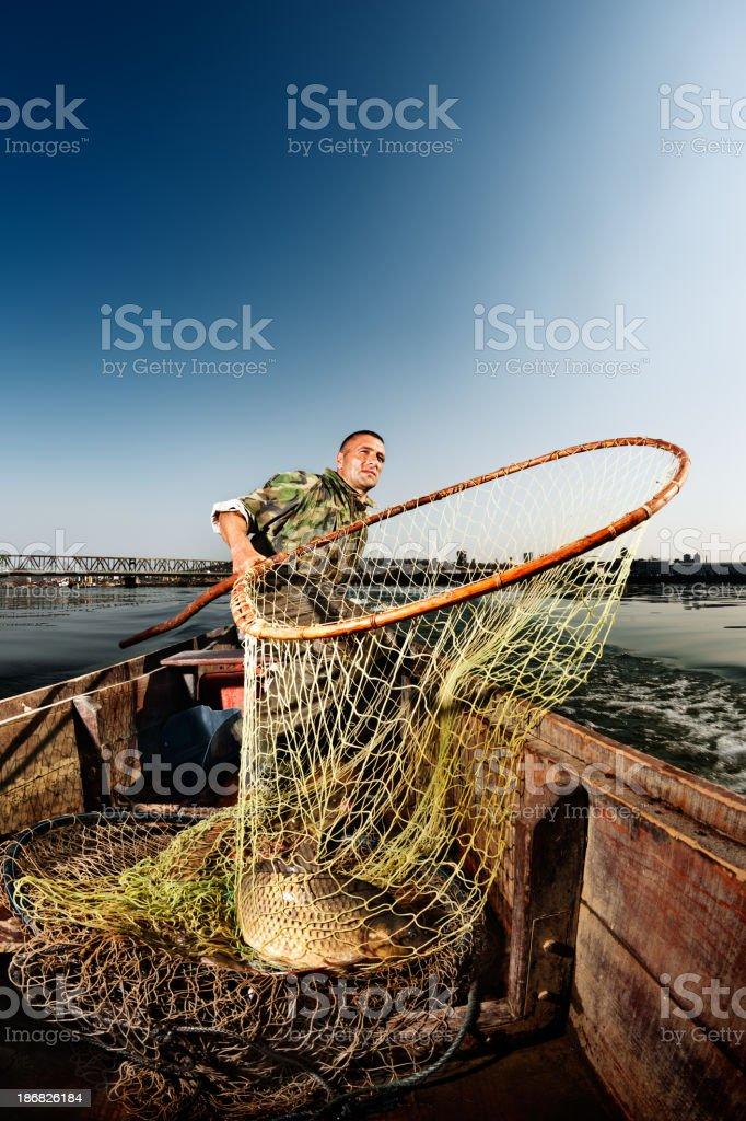 River Fishing royalty-free stock photo