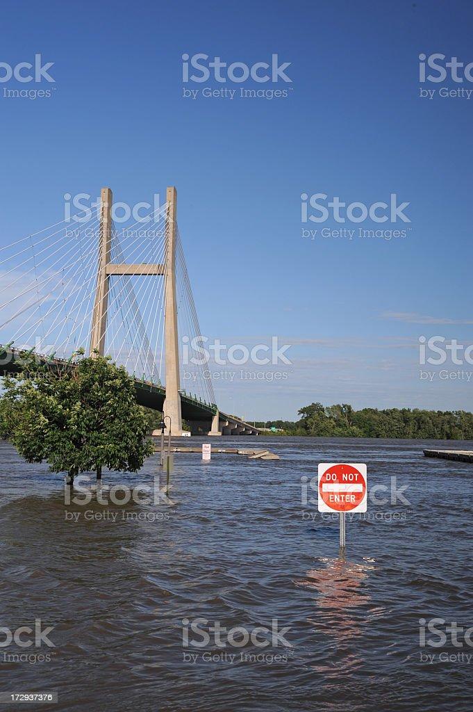 River Flood royalty-free stock photo