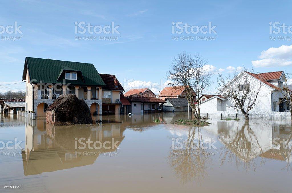 River flood stock photo