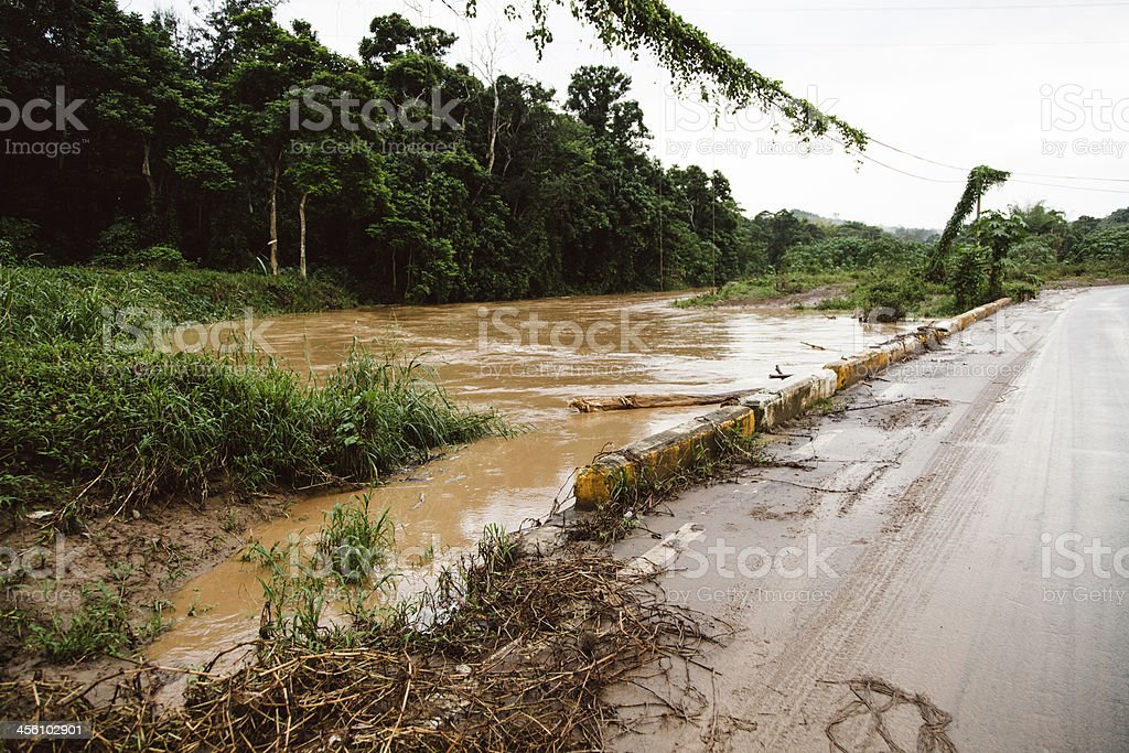 River flooding stock photo