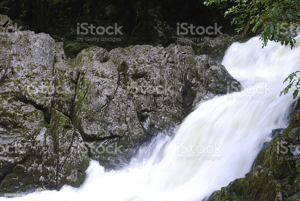 River flowing from the Riwaka Resurgence, Nelson, NZ stock photo