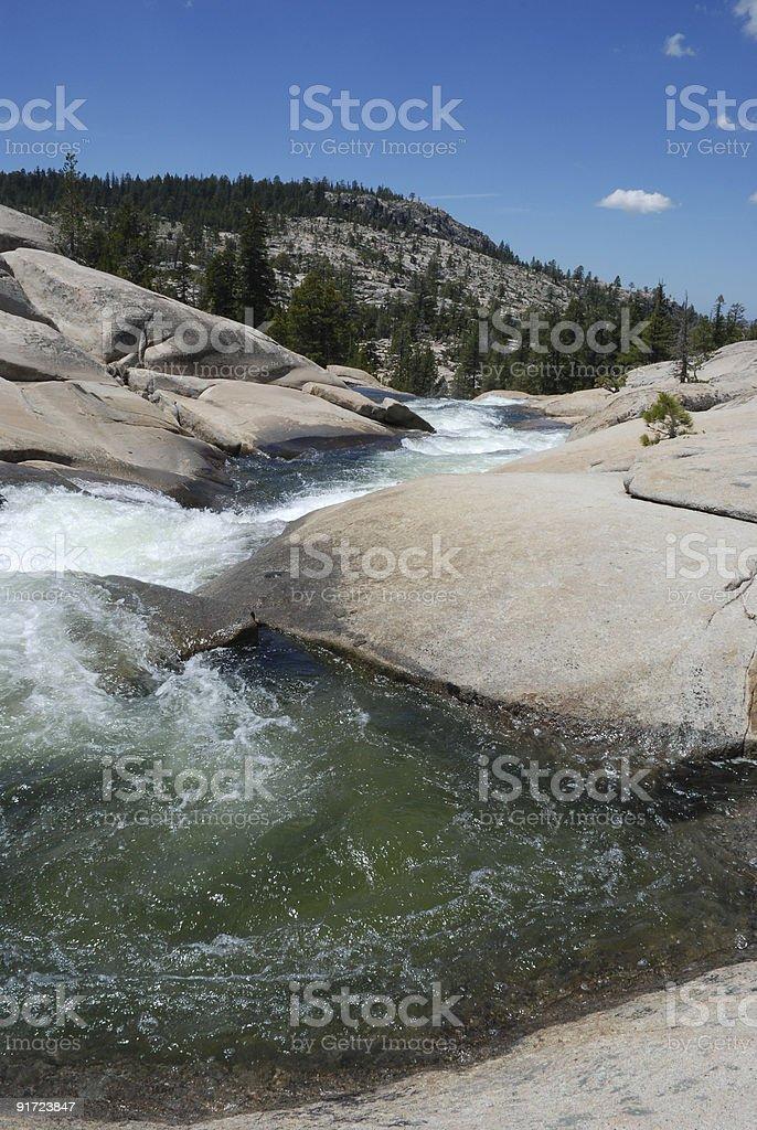 River Flowing Through Rocks royalty-free stock photo