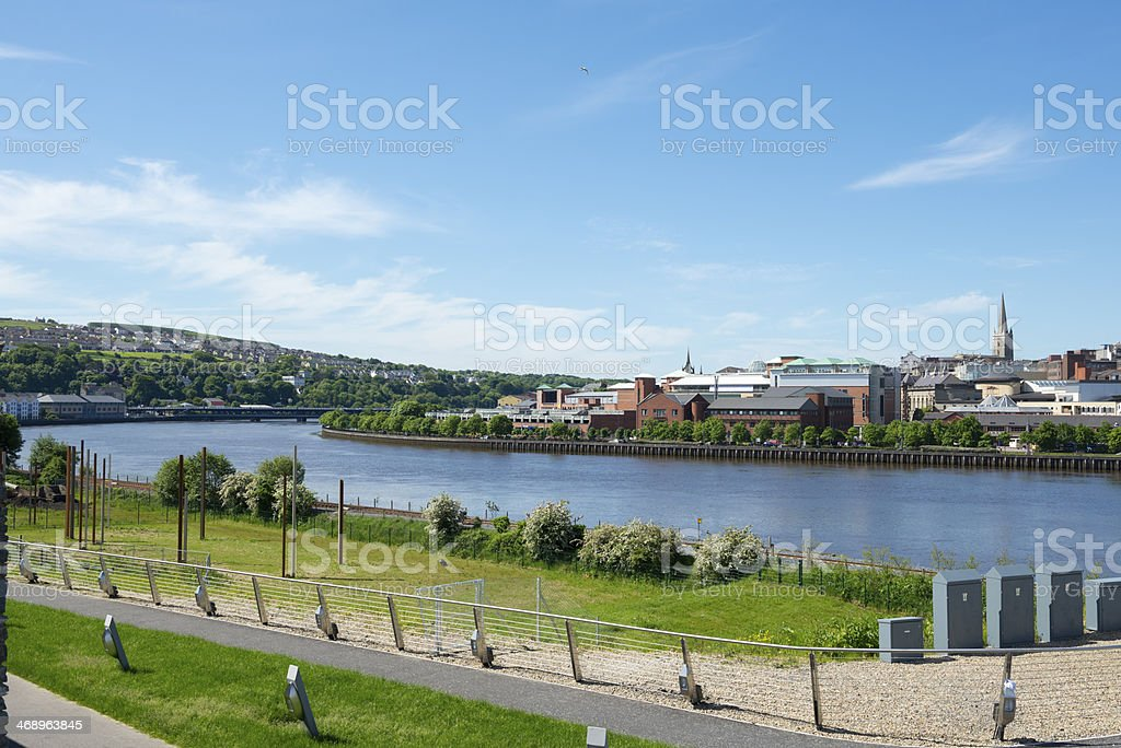 River Foyle in Derry, Northern Ireland stock photo