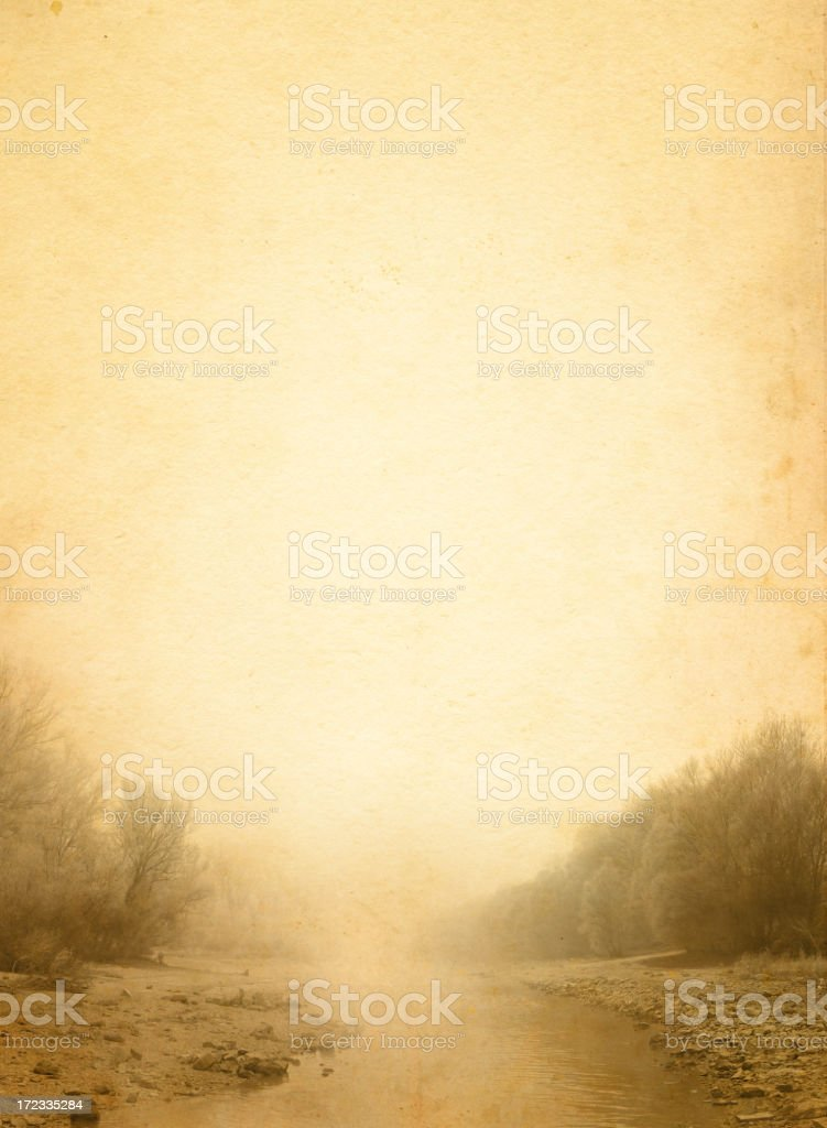 river from the fog royalty-free stock photo