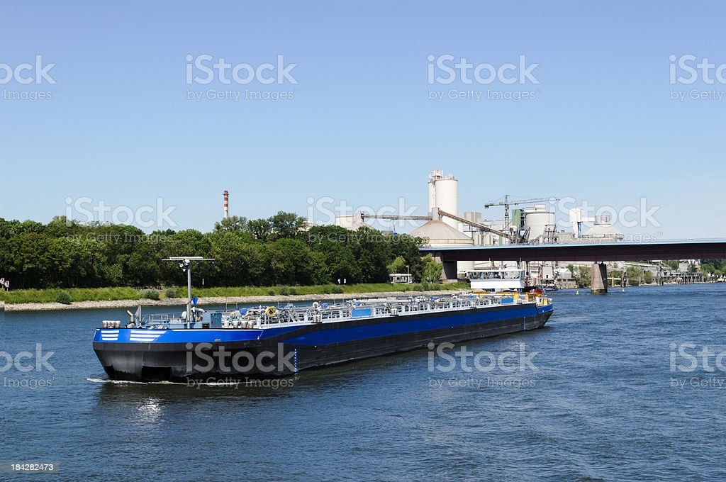 River fuel barge stock photo