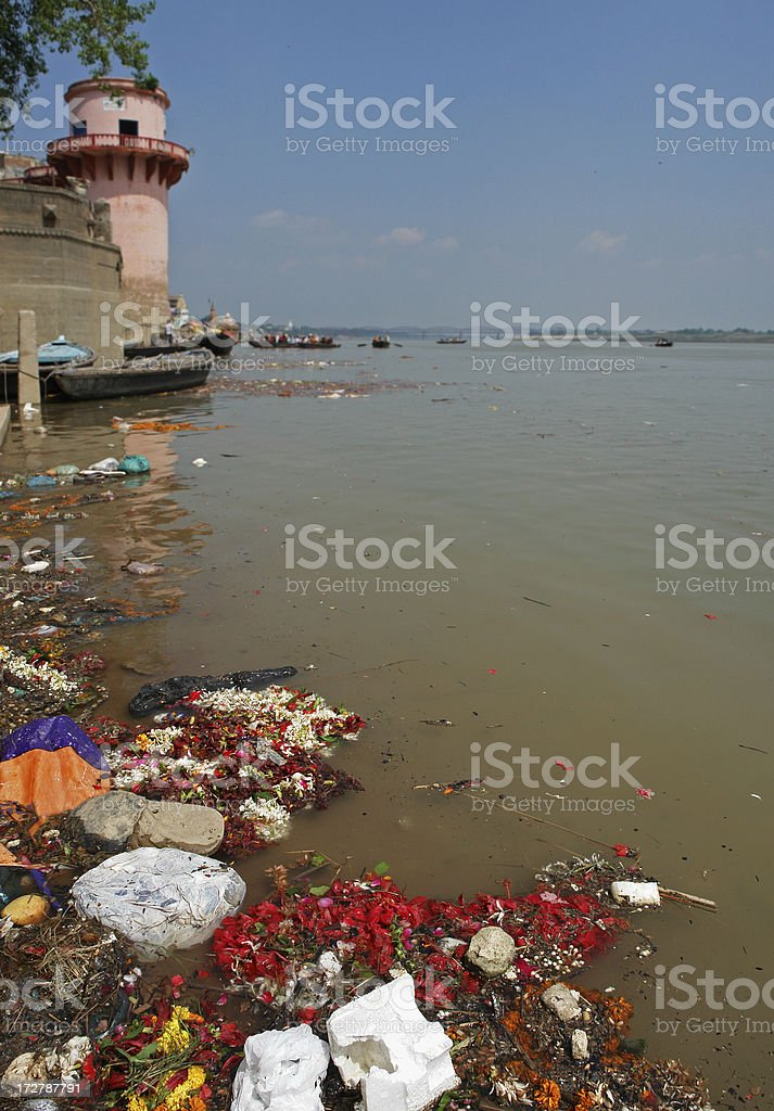 River Ganges Pollution royalty-free stock photo