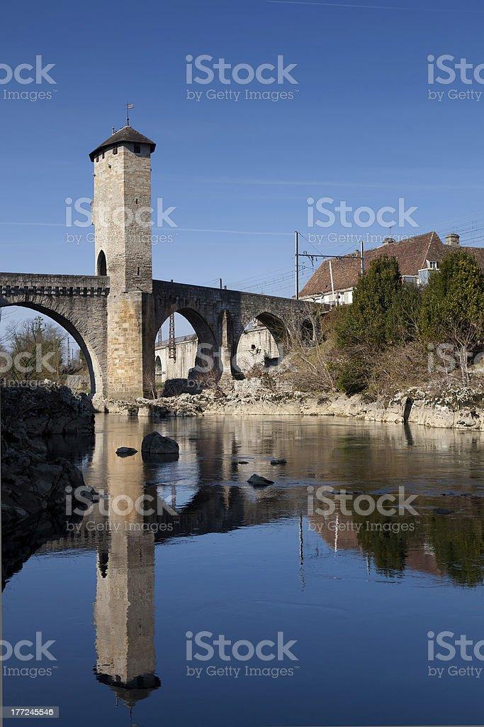 River Gave de Pau stock photo
