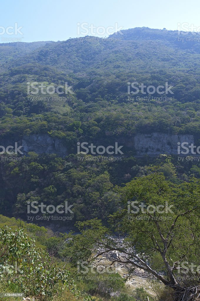 River Gorge in Jalisco Mexico stock photo
