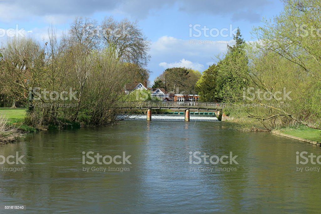 River Great Ouse in Bedford stock photo