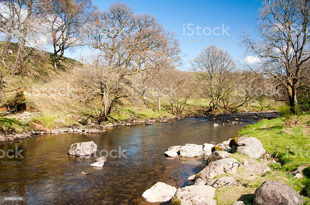River Greta in the Lake District stock photo