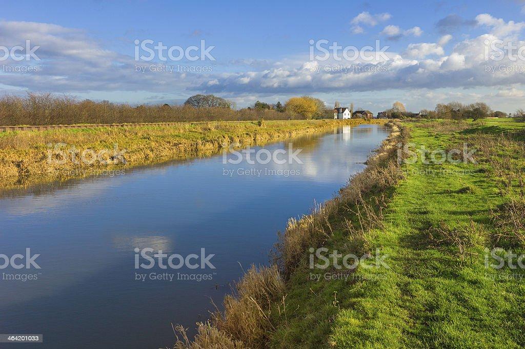 River Hull in winter, Beverley, Yorkshire, UK. stock photo