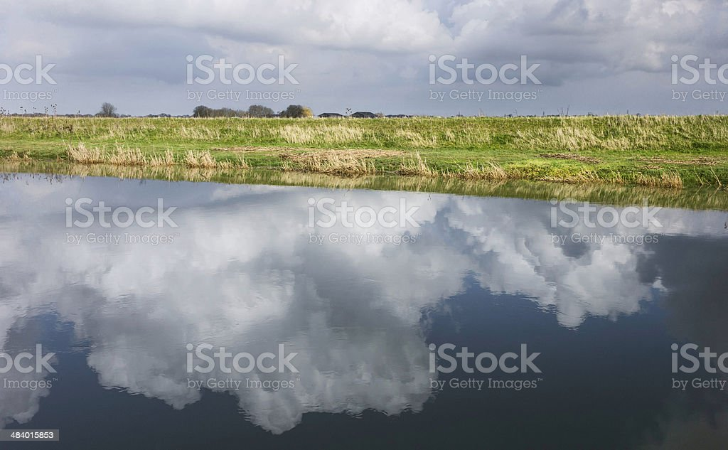 River Hull on a bright winter's day, Beverley, Yorkshire, UK. stock photo