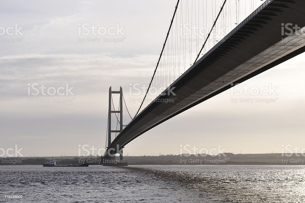 River Humber and Bridge stock photo