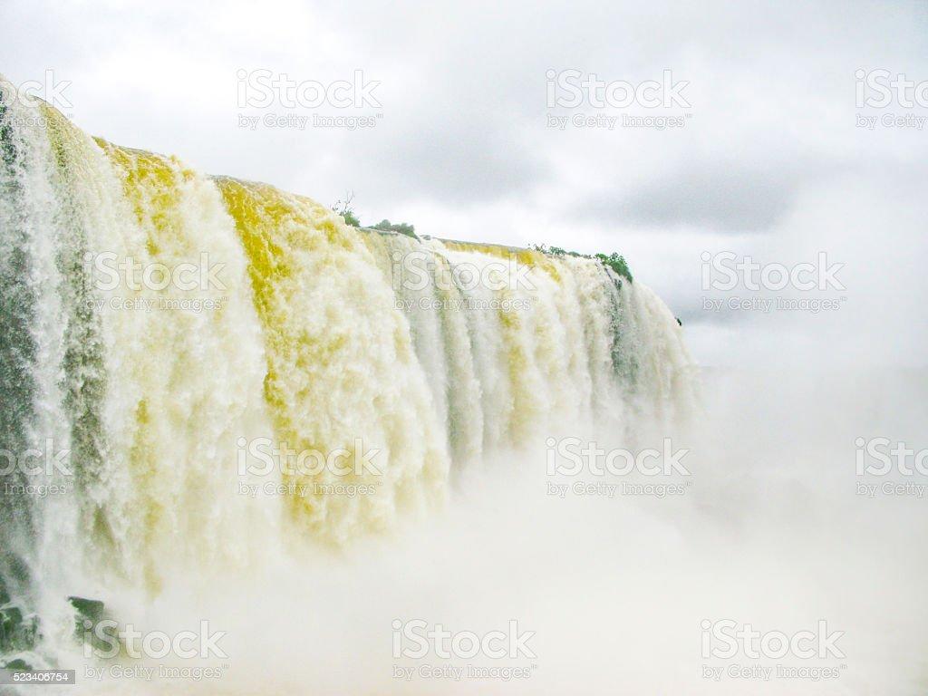 River Iguacu in Brazil stock photo