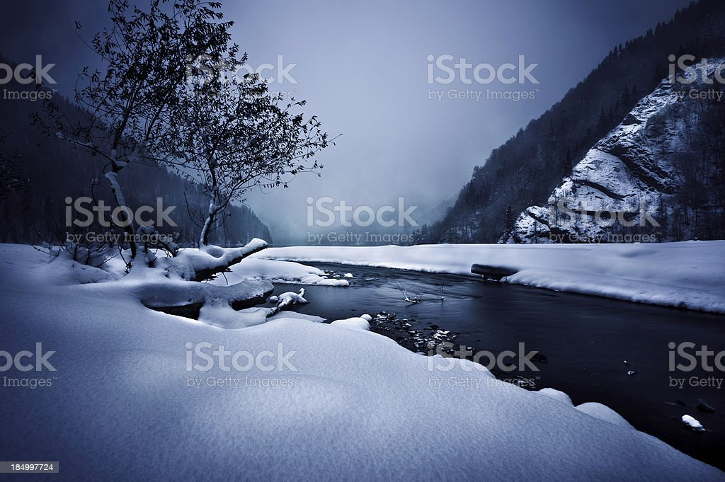 River in a mountains stock photo