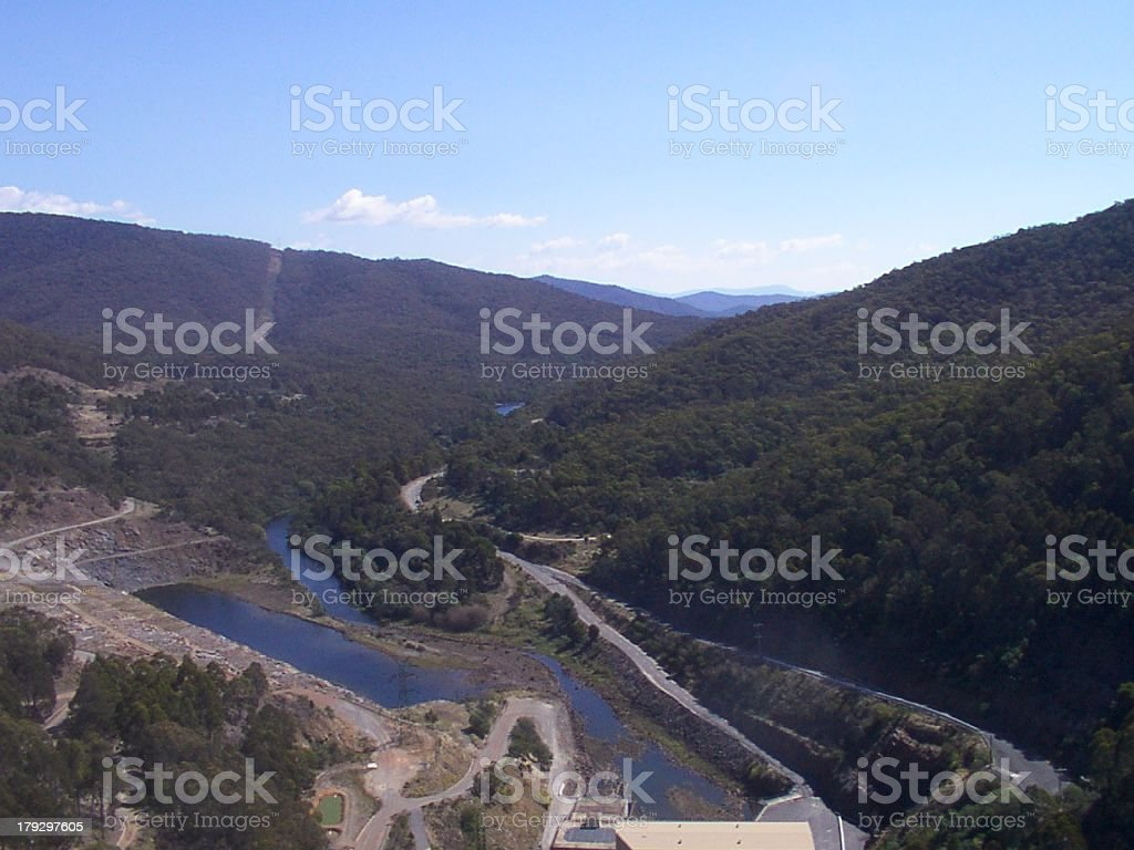 river in a valley royalty-free stock photo