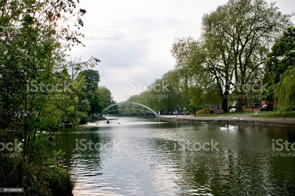 River in Bedford stock photo