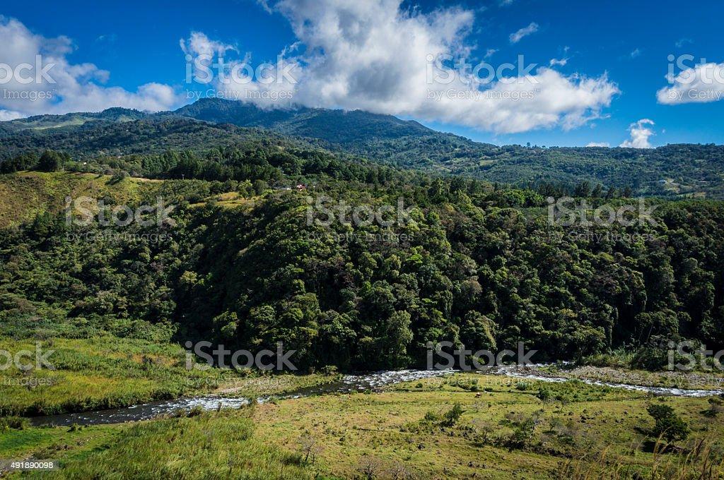river in Boquete valley Panama stock photo