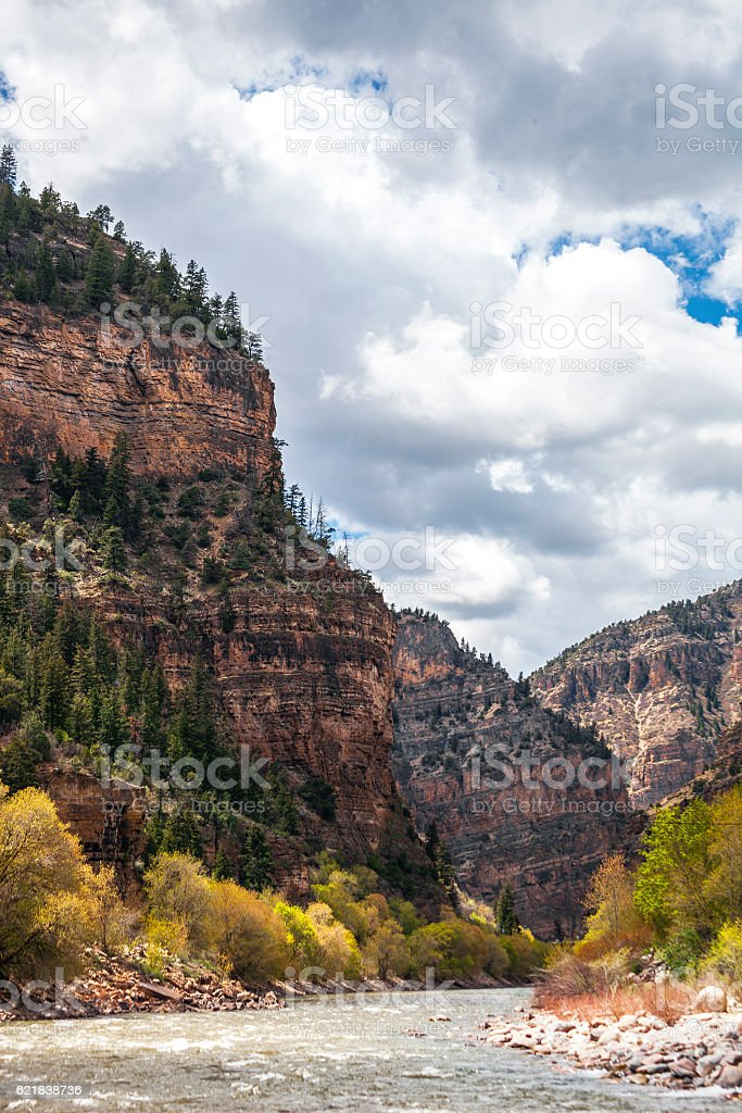 River in canyons. Glenwood Springs, Colorado. stock photo