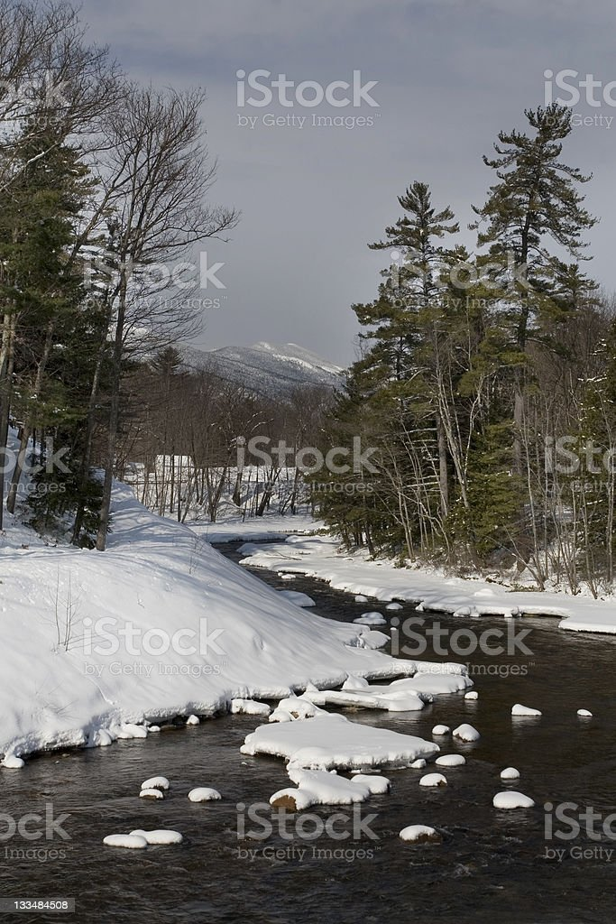 River in Conway New Hampshire stock photo