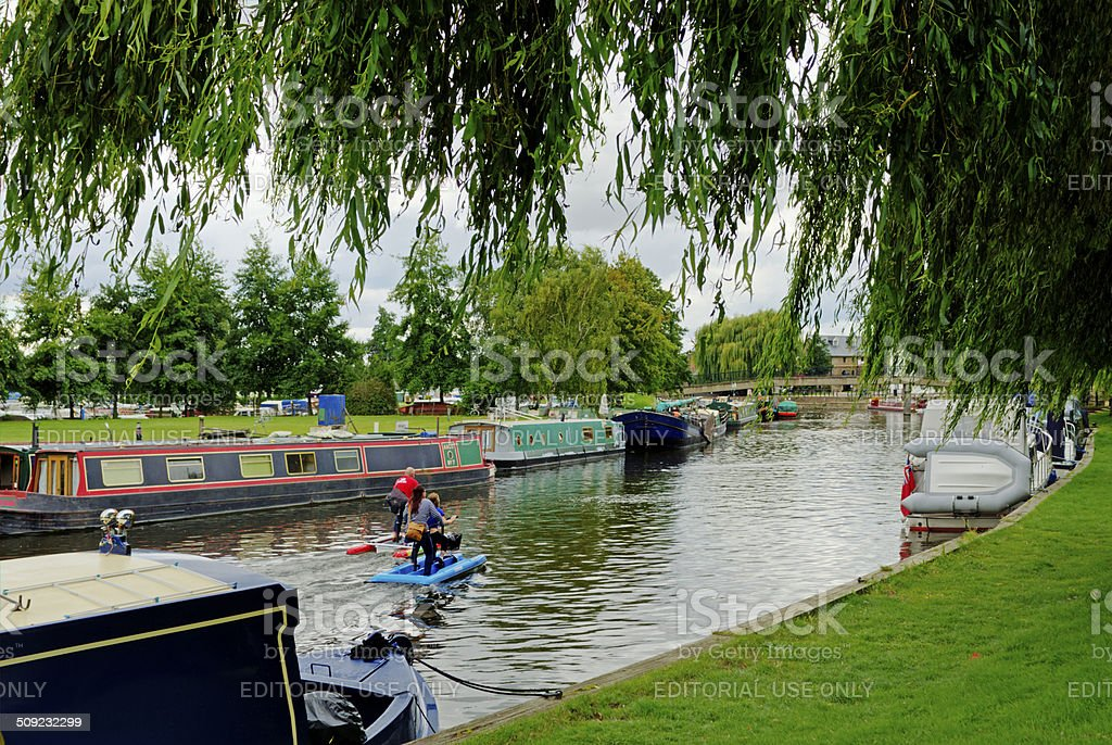 River in Ely stock photo