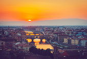 River in fire, Florence