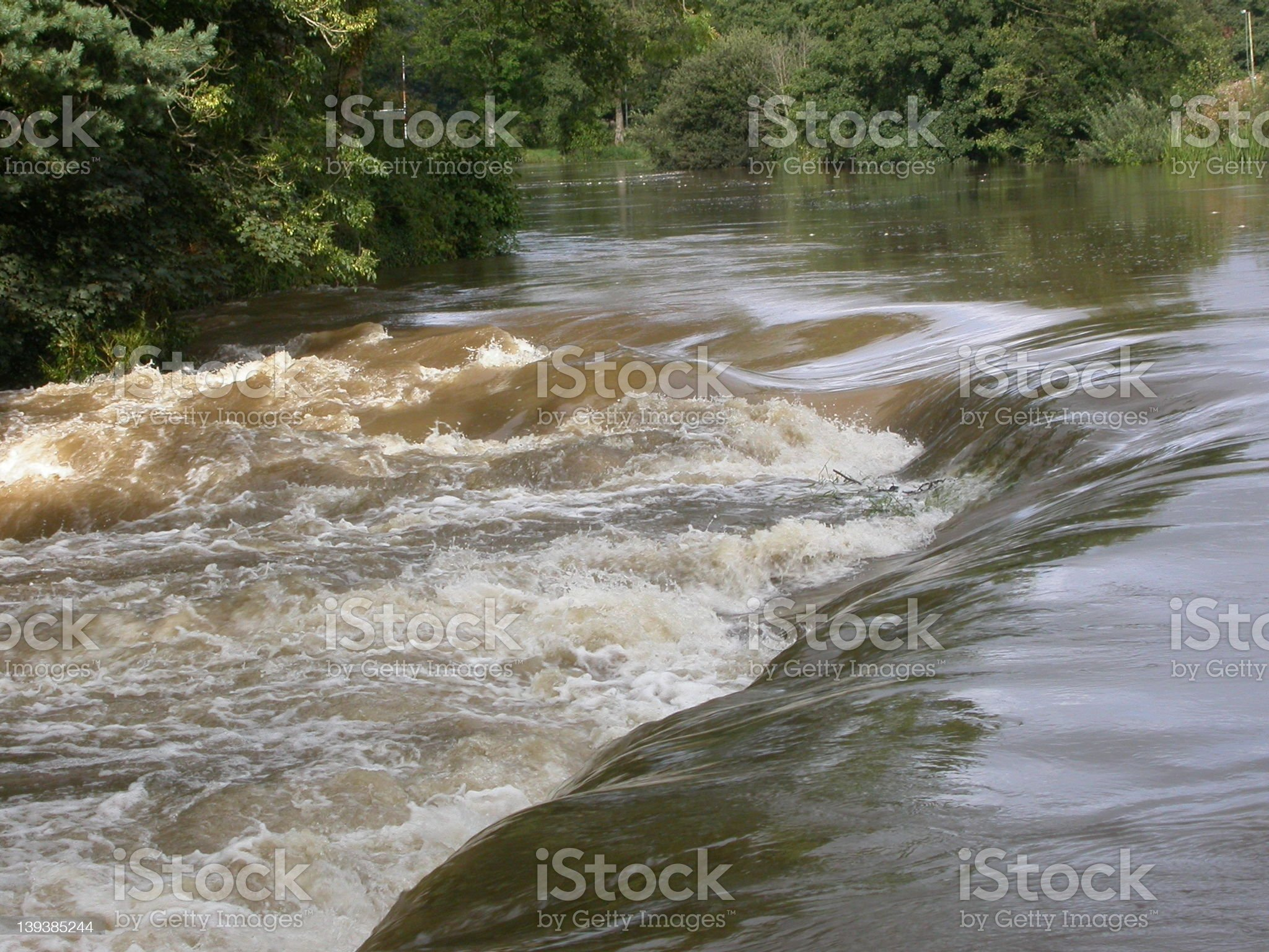 River in Flood 08 royalty-free stock photo