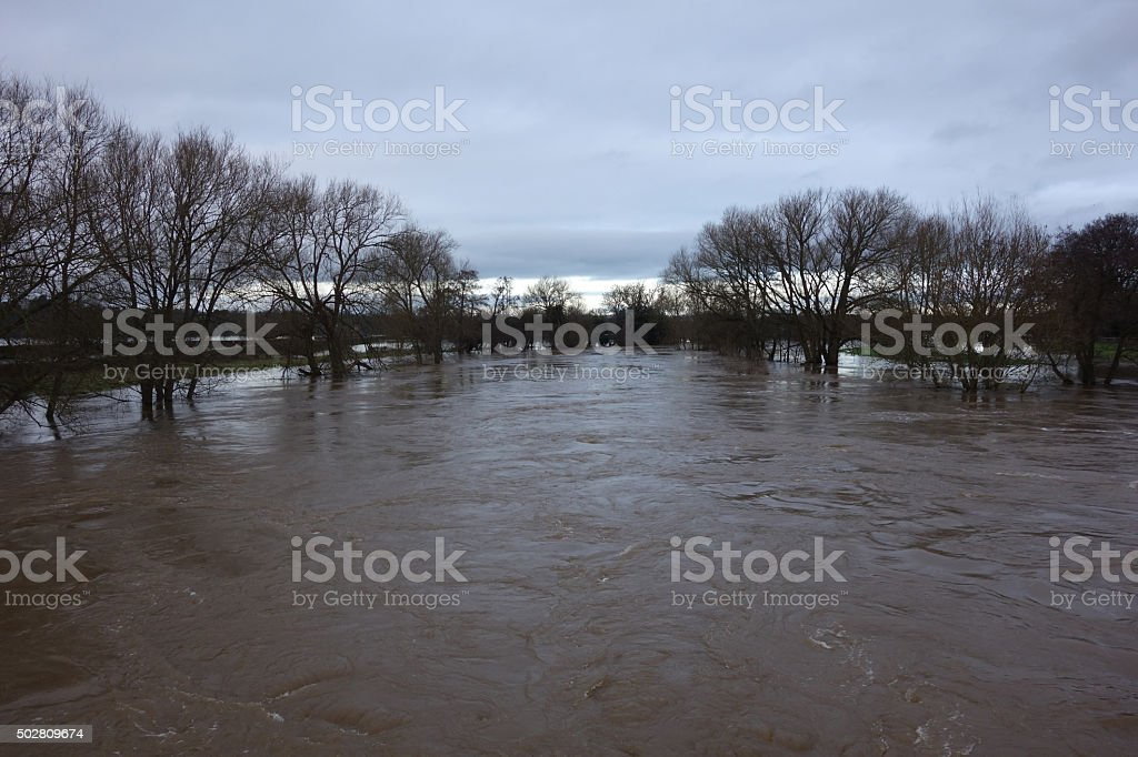 River in Flood stock photo