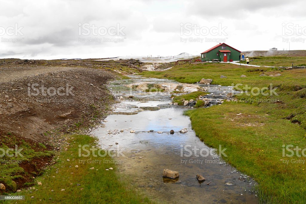 River in Iceland stock photo